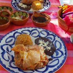 My lunch: Mixiote de pollo